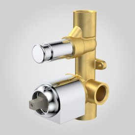 Morgana Bath/Shower Mixer with Diverter In Wall Body Round