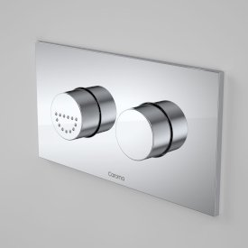 Invisi Series II® Round Dual Flush Plate & Raised Care Buttons (Plastic/Metal)