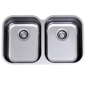 Monaco Scalloped Double Bowl Undermount