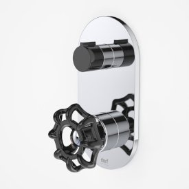 Industrie Wall Mixer with Diverter Black