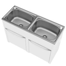 Eureka Double 45 Litre Tub & Cabinet