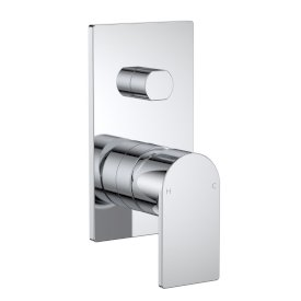 Round Square Wall Mixer with Diverter