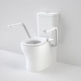 Opal Cleanflush Easy Height Wall Faced Close Coupled Suite with Single Flap Seat and Armrest