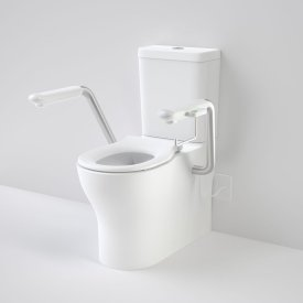 Opal Cleanflush Easy Height Wall Faced Close Coupled Suite with Nurse Call Armrests