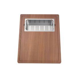 Prism Chopping Board and Stainless Steel Colander Set