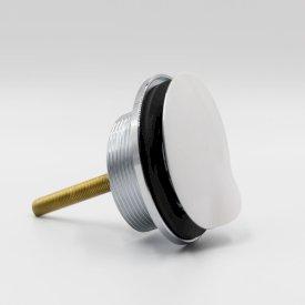 Plug & anti-vandal flush-fitting chrome waste