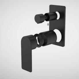 Urbane II Bath / Shower Mixer With Diverter Trim Kit - Rectangular Cover Plate