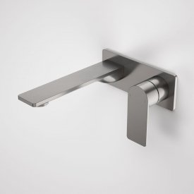 Urbane II 180mm Wall Basin / Bath Mixer - Rectangular Cover Plate