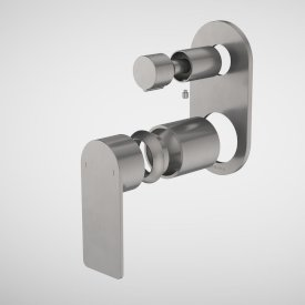 Urbane II Bath / Shower Mixer With Diverter Trim Kit - Round Cover Plate