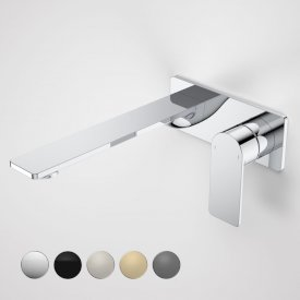 Urbane II 220mm Wall Basin / Bath Mixer - Rectangular Cover Plate