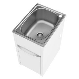 S45L Eureka Compact Island Tub and Cabinet - Right Hand Tap Hole, Concealed By-Pass