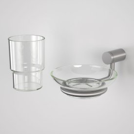 Titan Stainless Steel Soap Dish & Tumbler Pack