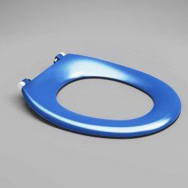 Caravelle Care Single Flap Toilet Seat Sorrento Blue