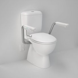Caravelle Easy Height Close Coupled Toilet Suite with Nurse Call Armrests