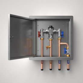 TMV20 Standard Bottom Inlet with Bypass - Removable Hinged Door