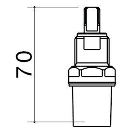 G Series C/Mic Disc 1/4T Basinspindle (PR)