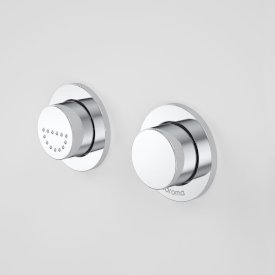 Invisi Series II® Round Dual Flush Raised Care Remote Buttons (Plastic)