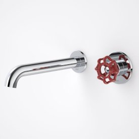 Industrie Wall Basin/Bath Mixer Set Red