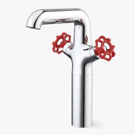 Industrie Tower Basin Mixer Red