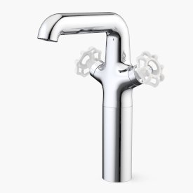 Industrie Tower Basin Mixer White
