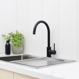 Poseidon Sink Mixer Black