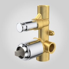 Vivas Bath/Shower Mixer with Diverter In Wall Body Kit
