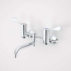 G Series Exposed Wall Sink Set 160mm Underslung Swivel Outlet - 115mm Lever Handles