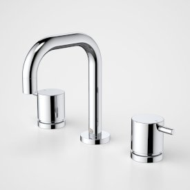 Contemporary Lever Basin Tap Set