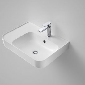 Sculptural Left Hand Shelf Wall Basin 1 Taphole 600mm
