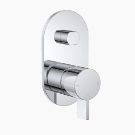 Round Blade Wall Mixer with Diverter