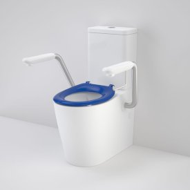 Care 660 Cleanflush Wall Faced Close Coupled Easy Height Suite with Armrest and Caravelle Seat