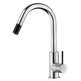 Culinary Gooseneck Pull Out Sink Mixer (Chrome Black)