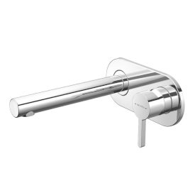 Arrow Plate Mount Basin Mixer with 200mm Spout