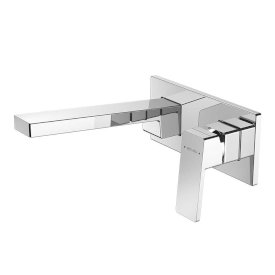 Blaze Plate Mount Bath Mixer with 200mm Spout