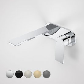 Urbane II 180mm Wall Basin / Bath Mixer - Round Cover Plate
