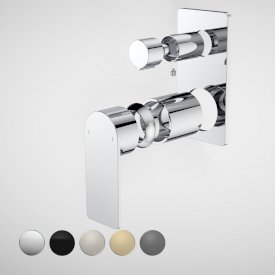 Urbane II Bath / Shower Mixer With Diverter Trim Kit - Rectangular Cover Plate
