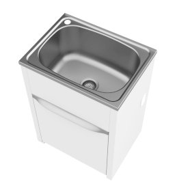 S45L Eureka Island Tub and Cabinet - Left Hand Tap Hole, Concealed By-Pass